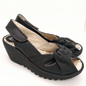 Fly London Yakin leather wedge sandal